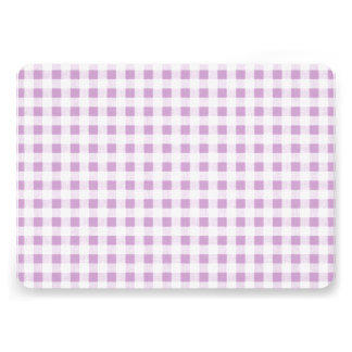 Lilac White Gingham Pattern Custom Announcement