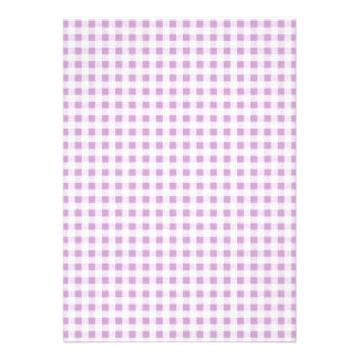 Lilac White Gingham Pattern Cards