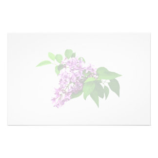 Lilacs and Leaves Stationery