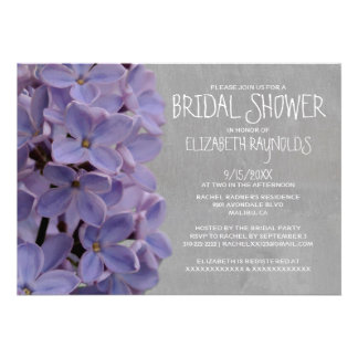 Lilacs Bridal Shower Invitations Personalized Announcements