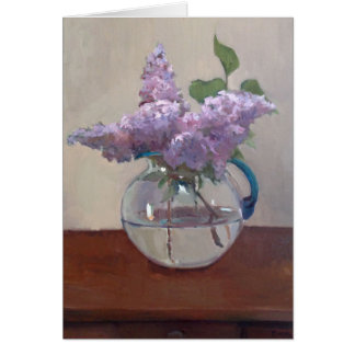Lilacs in Glass Vase Note Card