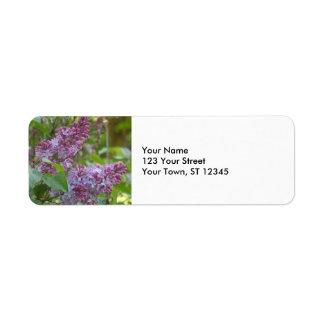 Lilacs Return Address Label