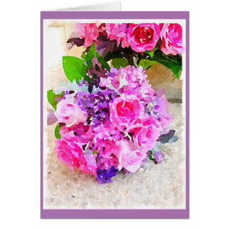 Lilacs & Roses Card
