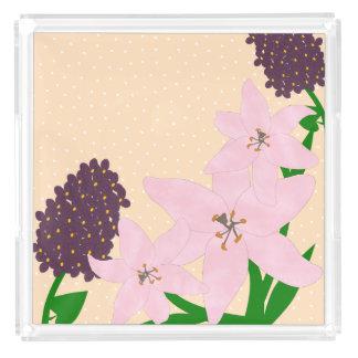 Lilies & Lilacs Acrylic Tray