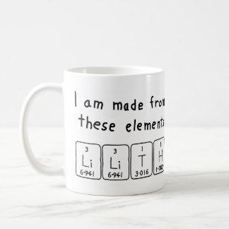 Lilith periodic table name mug