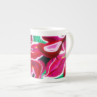 Lillie's Red Birds Tea Cup