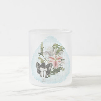 Lilly Fairy - Frosted Glass Mug