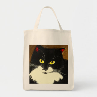 Lilly the tuxedo cat - Grocery Bag
