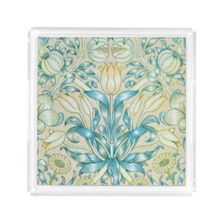 Lily and Pomegranate Vintage Floral Acrylic Tray