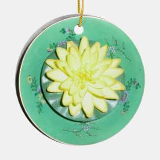 Lily in Bowl Ornament