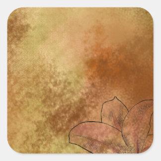 Lily in Orange Square Sticker