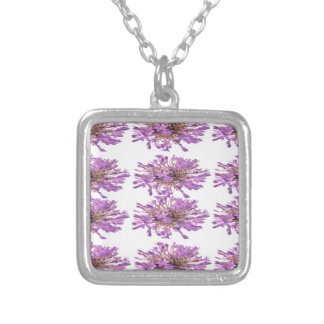 LILY LILLY Flower - Purple Violet Voilet Silver Plated Necklace