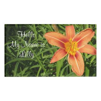 Lily Name Tag