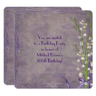 Lily of the Valley Birthday Party Card