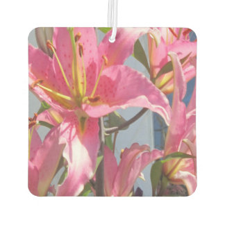 Lily Plant Outdoor Pink Car Air Freshener