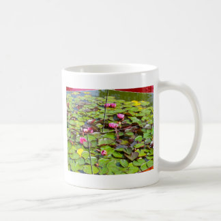 Lily pond times four coffee mug