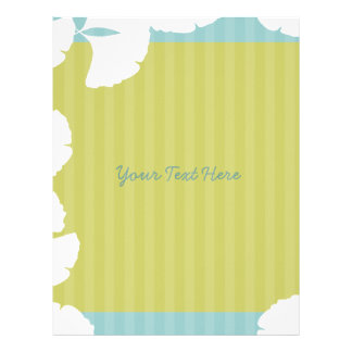 Lime and Aqua Blue White Gingko Leaves Flyer