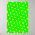 Lime and Yellow Polka Dots Poster