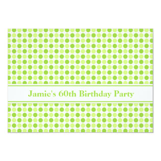 Lime Dots 60th Birthday Party Invitation