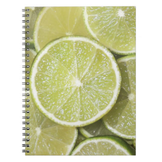 lime fruit green juicy juice thanks party fun spiral notebook