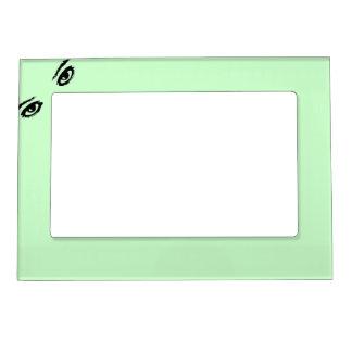 Lime Green Eyes in corner Magnetic Frame