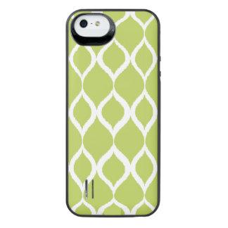 Lime Green Geometric Ikat Tribal Print Pattern iPhone SE/5/5s Battery Case