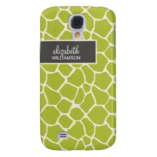 Lime Green Giraffe Pern Galaxy S4 Case