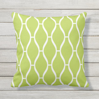 Lime Green Outdoor Pillows - Greek Trellis