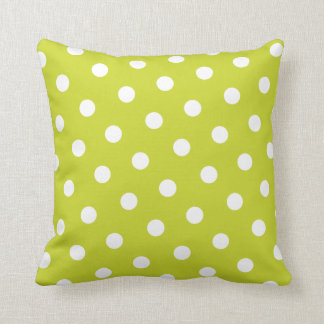 Lime Green Polka Dot Pillow
