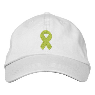Lime Green Ribbon Awareness Embroidered Hats