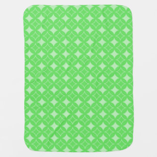 Lime green shippo pattern baby blanket