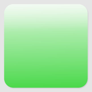 lime green to white gradient #00cc00 square sticker