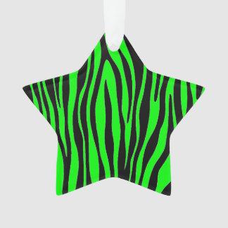 Lime Green Zebra Ornament