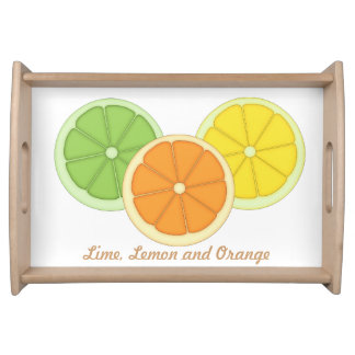 Lime, Lemon and Orange Service Trays