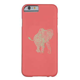 Lime/Peach Elephant iPhone 6 case Barely There iPhone 6 Case