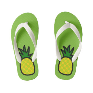 Lime Pineapple Flip Flops Thongs