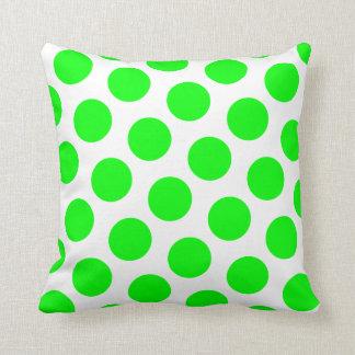 Lime Polka Dot Cushion