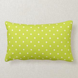 Lime Polka Dot Design Throw Pillow