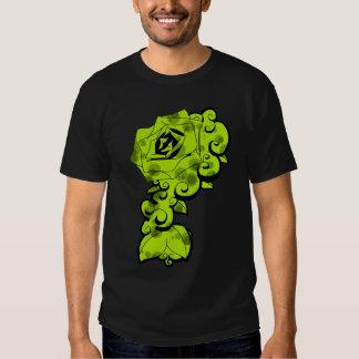 Lime Rose Swirl Tee Shirts