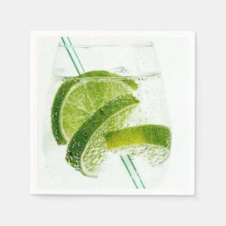 Lime Soda Fresh Drink Glass Disposable Napkins