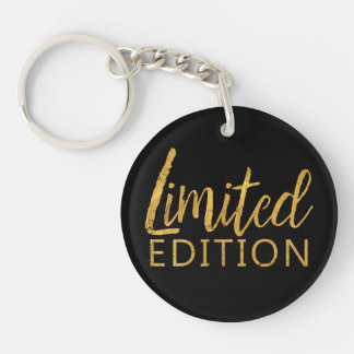 Limited Edition Gold Double-Sided Round Acrylic Key Ring