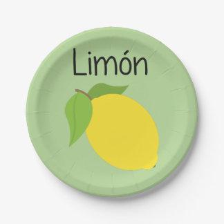 Limon (Lemon) Paper Plate