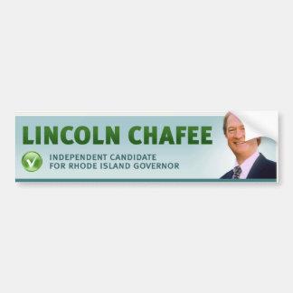 Lincoln Chafee w/ check and profile Bumper Stickers