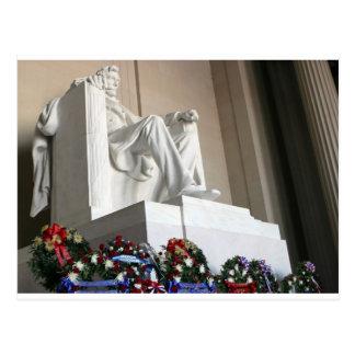 lincoln memorial Lincoln Status Postcard