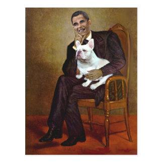 Lincoln-Obama-FrenchBD - W Postcard