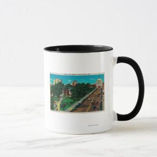 Lincoln Park showing Library & City Hall Mug