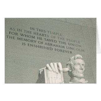 lincoln statue card