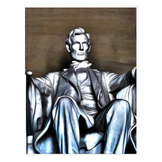Lincoln Statue Postcard