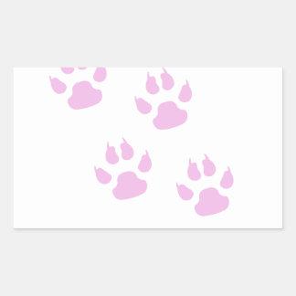 Lindas Huellitas de   color Rosa Rectangular Sticker