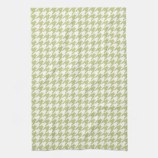 Linden Green Houndstooth Kitchen Towels
